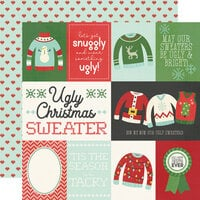Simple Stories - Ugly Christmas Sweater Collection - 12 x 12 Double Sided Paper - Element Cards