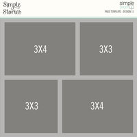 Simple Stories - Simple Pages Collection - Page Template - Design 11