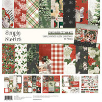 Simple Stories - Simple Vintage Rustic Christmas Collection - 12 x 12 Collection Kit