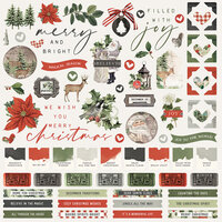 Simple Stories - Simple Vintage Rustic Christmas Collection - 12 x 12 Cardstock Stickers