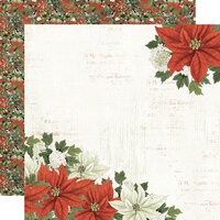 Simple Stories - Simple Vintage Rustic Christmas Collection - 12 x 12 Double Sided Paper - Peace On Earth