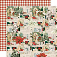 Simple Stories - Simple Vintage Rustic Christmas Collection - 12 x 12 Double Sided Paper - Wrapped With Care