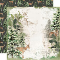 Simple Stories - Simple Vintage Rustic Christmas Collection - 12 x 12 Double Sided Paper - Reindeer Games