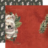 Simple Stories - Simple Vintage Rustic Christmas Collection - 12 x 12 Double Sided Paper - Jolly Good