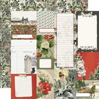 Simple Stories - Simple Vintage Rustic Christmas Collection - 12 x 12 Double Sided Paper - Journal Elements