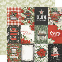 Simple Stories - Simple Vintage Rustic Christmas Collection - 12 x 12 Double Sided Paper - 3 x 4 Elements