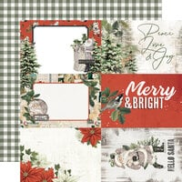 Simple Stories - Simple Vintage Rustic Christmas Collection - 12 x 12 Double Sided Paper - 4 x 6 Elements