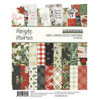 Simple Stories - Simple Vintage Rustic Christmas Collection - 6 x 8 Paper Pad
