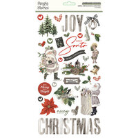 Simple Stories - Simple Vintage Rustic Christmas Collection - 6 x 12 Chipboard Stickers