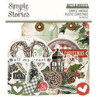 Simple Stories - Simple Vintage Rustic Christmas Collection - Bits and Pieces