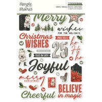 Simple Stories - Simple Vintage Rustic Christmas Collection - Sticker Book