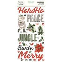 Simple Stories - Simple Vintage Rustic Christmas Collection - Foam Stickers