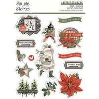 Simple Stories - Simple Vintage Rustic Christmas Collection - Layered Stickers