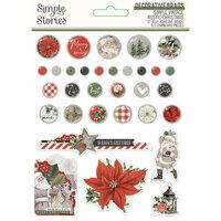 Simple Stories - Simple Vintage Rustic Christmas Collection - Decorative Brads