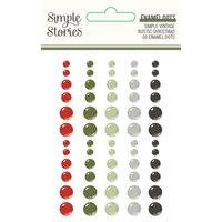 Simple Stories - Simple Vintage Rustic Christmas Collection - Enamel Dots