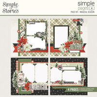 Simple Stories - Simple Pages Collection - Christmas - Page Kit - Magical Season