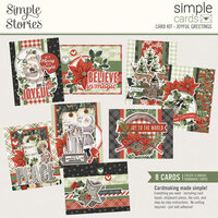 Simple Stories - Simple Vintage Rustic Christmas Collection - Card Kit - Christmas - Joyful Greetings