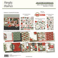 Simple Stories - Simple Vintage Rustic Christmas Collection - 12 x 12 Collector's Essential Kit