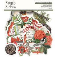 Simple Stories - Simple Vintage Rustic Christmas Collection - Chipboard Clusters
