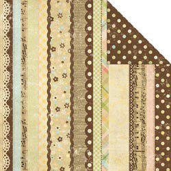 Memory Works - Simple Stories - Baby Steps Collection - 12 x 12 Double Sided Paper - 100% Perfect