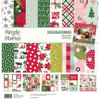 Simple Stories - Holly Days Collection - Christmas - 12 x 12 Collection Kit