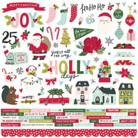 Simple Stories - Holly Days Collection - Christmas - 12 x 12 Cardstock Stickers