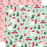 Simple Stories - Holly Days Collection - Christmas - 12 x 12 Double Sided Paper - Hey Santa!