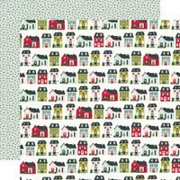 Simple Stories - Holly Days Collection - 12 x 12 Double Sided Paper - Home For Christmas