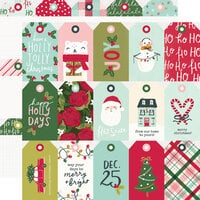 Simple Stories - Holly Days Collection - Christmas - 12 x 12 Double Sided Paper - Tags