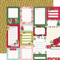 Simple Stories - Holly Days Collection - Christmas - 12 x 12 Double Sided Paper - Journal Elements