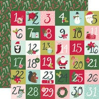 Simple Stories - Holly Days Collection - Christmas - 12 x 12 Double Sided Paper - 2 x 2 Elements