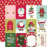Simple Stories - Holly Days Collection - Christmas - 12 x 12 Double Sided Paper - 3 x 4 Elements