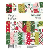 Simple Stories - Holly Days Collection - Christmas - 6 x 8 Paper Pad