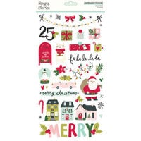 Simple Stories - Holly Days Collection - Christmas - 6 x 12 Chipboard Stickers