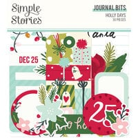 Simple Stories - Holly Days Collection - Christmas - Journal Bits