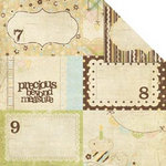 Memory Works - Simple Stories - Baby Steps Collection - 12 x 12 Double Sided Paper - Journaling Card Elements 2