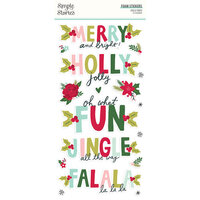 Simple Stories - Holly Days Collection - Christmas - Foam Stickers