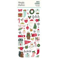 Simple Stories - Holly Days Collection - Christmas - Puffy Stickers