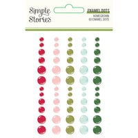 Simple Stories - Holly Days Collection - Christmas - Enamel Dots