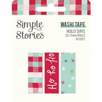 Simple Stories - Holly Days Collection - Christmas - Washi Tape