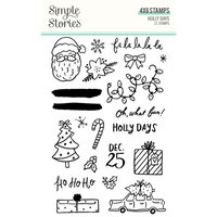 Simple Stories - Holly Days Collection - Christmas - Clear Photopolymer Stamps