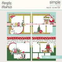 Simple Stories - Simple Pages Collection - Christmas - Page Kit - Oh, What Fun!