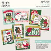 Simple Stories - Holly Days Collection - Card Kit - Christmas Wishes