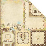 Memory Works - Simple Stories - Baby Steps Collection - 12 x 12 Double Sided Paper - Quote and Photo Mat Elements