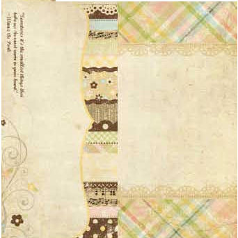 Simple Stories - Baby Steps Collection - 12 x 12 Double Sided Paper - Page Elements