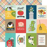 Simple Stories - Homegrown Collection - 12 x 12 Double Sided Paper - 3 x 4 Elements
