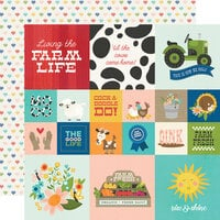 Simple Stories - Homegrown Collection - 12 x 12 Double Sided Paper - 2 x 2 and 4 x 4 Elements