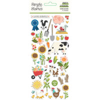Simple Stories - Homegrown Collection - Puffy Stickers