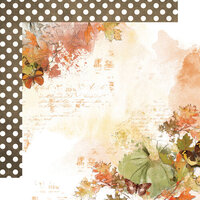 Simple Stories - Simple Vintage Country Harvest Collection - 12 x 12 Double Sided Cardstock - Forever Fall