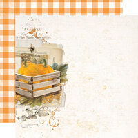 Simple Stories - Simple Vintage Country Harvest Collection - 12 x 12 Double Sided Cardstock - Just Thankful